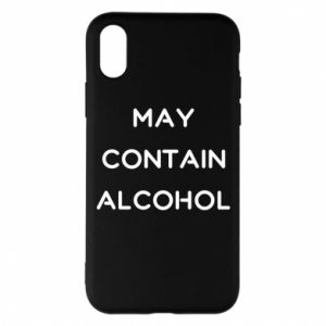 Etui na iPhone X/Xs Napis: May contain alcohol