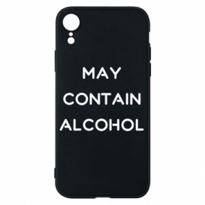 Etui na iPhone XR Napis: May contain alcohol