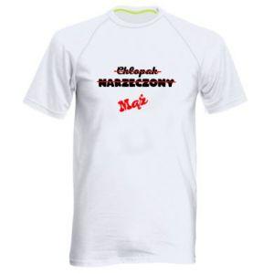 Męska koszulka sportowa Napis: Maż