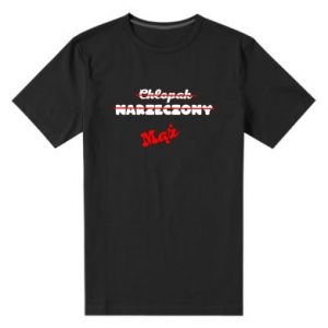 Męska premium koszulka Napis: Maż