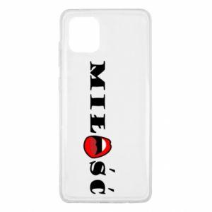 Etui na Samsung Note 10 Lite Napis: Miłość i usta