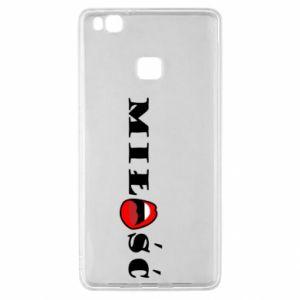 Etui na Huawei P9 Lite Napis: Miłość i usta