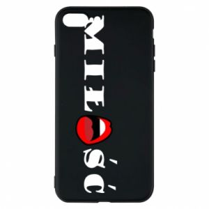 Etui na iPhone 8 Plus Napis: Miłość i usta