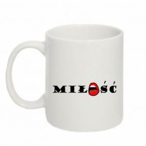 Mug 330ml Inscription: Love and lips