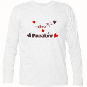 Koszulka z długim rękawem Napis - Moja miłość to Pruszków