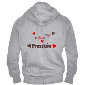 Men's zip up hoodie Inscription - My love is Pruszkow