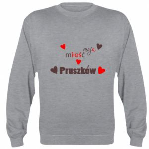 Sweatshirt Inscription - My love is Pruszkow