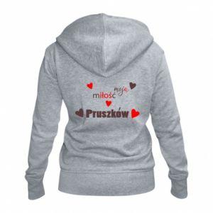 Damska bluza na zamek Napis - Moja miłość to Pruszków
