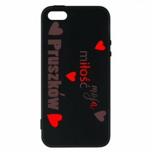 Phone case for iPhone 5/5S/SE Inscription - My love is Pruszkow