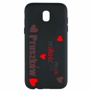 Phone case for Samsung J5 2017 Inscription - My love is Pruszkow