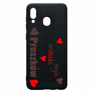 Phone case for Samsung A30 Inscription - My love is Pruszkow
