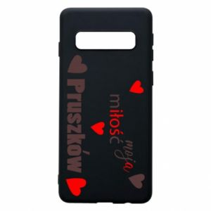 Phone case for Samsung S10 Inscription - My love is Pruszkow