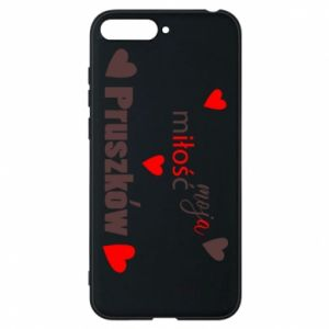 Phone case for Huawei Y6 2018 Inscription - My love is Pruszkow