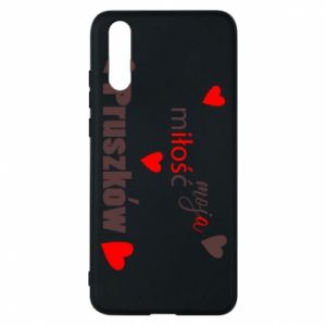 Phone case for Huawei P20 Inscription - My love is Pruszkow