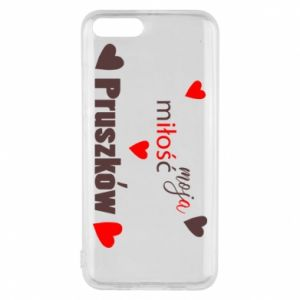 Phone case for Xiaomi Mi6 Inscription - My love is Pruszkow