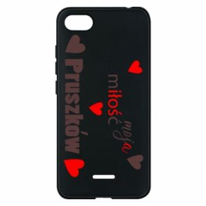 Phone case for Xiaomi Redmi 6A Inscription - My love is Pruszkow