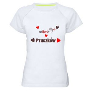 Women's sports t-shirt Inscription - My love is Pruszkow