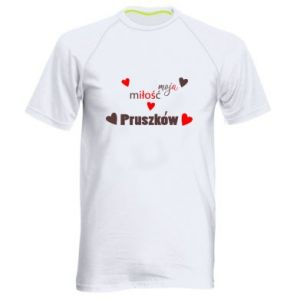 Men's sports t-shirt Inscription - My love is Pruszkow