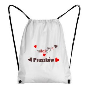 Backpack-bag Inscription - My love is Pruszkow
