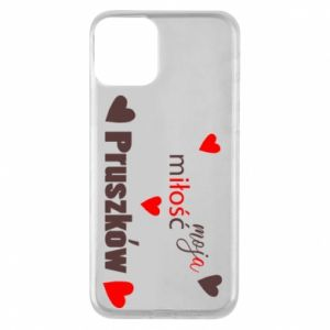 Phone case for iPhone 11 Inscription - My love is Pruszkow