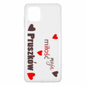 Etui na Samsung Note 10 Lite Napis - Moja miłość to Pruszków