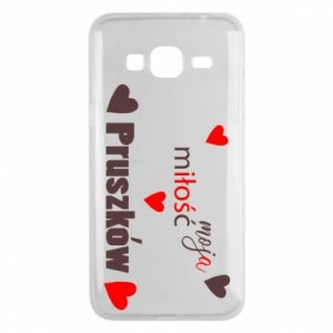 Phone case for Samsung J3 2016 Inscription - My love is Pruszkow