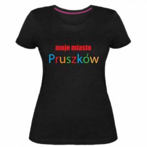Damska premium koszulka Napis: Moje miasto Pruszków