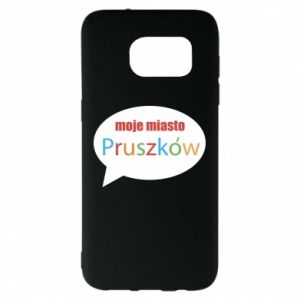 Samsung S7 EDGE Case Inscription: My city Pruszkow