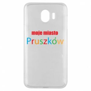 Phone case for Samsung J4 Inscription: My city Pruszkow