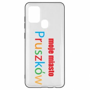 Samsung A21s Case Inscription: My city Pruszkow