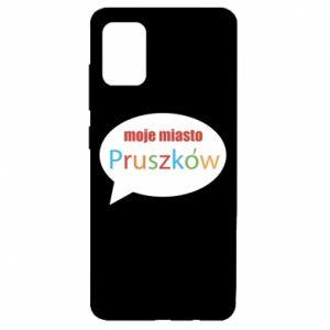 Samsung A51 Case Inscription: My city Pruszkow