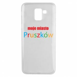 Phone case for Samsung J6 Inscription: My city Pruszkow