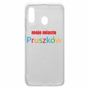 Phone case for Samsung A30 Inscription: My city Pruszkow