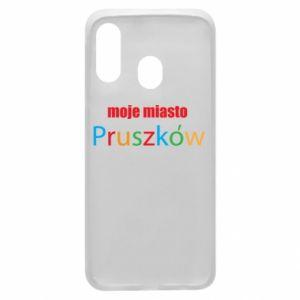 Phone case for Samsung A40 Inscription: My city Pruszkow