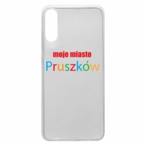 Phone case for Samsung A70 Inscription: My city Pruszkow