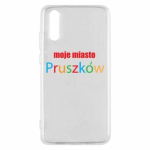 Phone case for Huawei P20 Inscription: My city Pruszkow