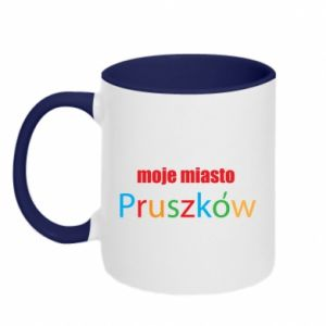 Two-toned mug Inscription: My city Pruszkow