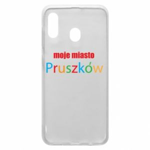 Phone case for Samsung A20 Inscription: My city Pruszkow