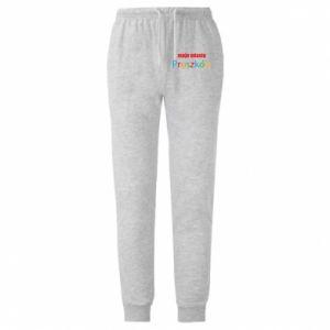 Męskie spodnie lekkie Napis: Moje miasto Pruszków
