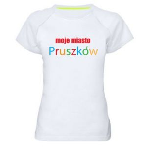 Women's sports t-shirt Inscription: My city Pruszkow