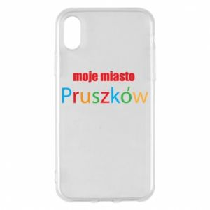 Phone case for iPhone X/Xs Inscription: My city Pruszkow