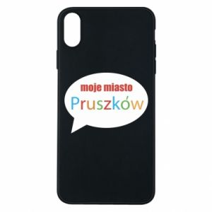 Phone case for iPhone Xs Max Inscription: My city Pruszkow