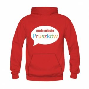 Kid's hoodie Inscription: My city Pruszkow