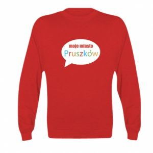 Kid's sweatshirt Inscription: My city Pruszkow