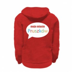 Kid's zipped hoodie % print% Inscription: My city Pruszkow