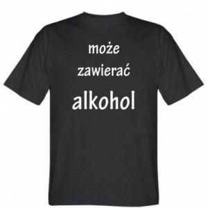 Koszulka Napis - Może zawierać alkohol
