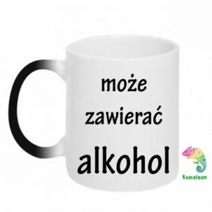 Kubek-kameleon Napis - Może zawierać alkohol