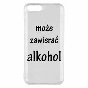 Etui na Xiaomi Mi6 Napis - Może zawierać alkohol