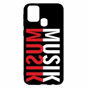 Etui na Samsung M31 Napis Muzyka