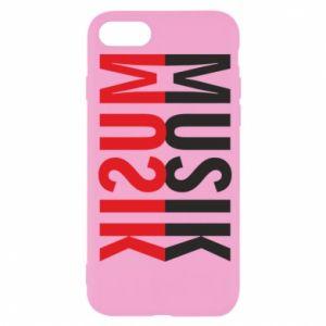 Etui na iPhone SE 2020 Napis Muzyka